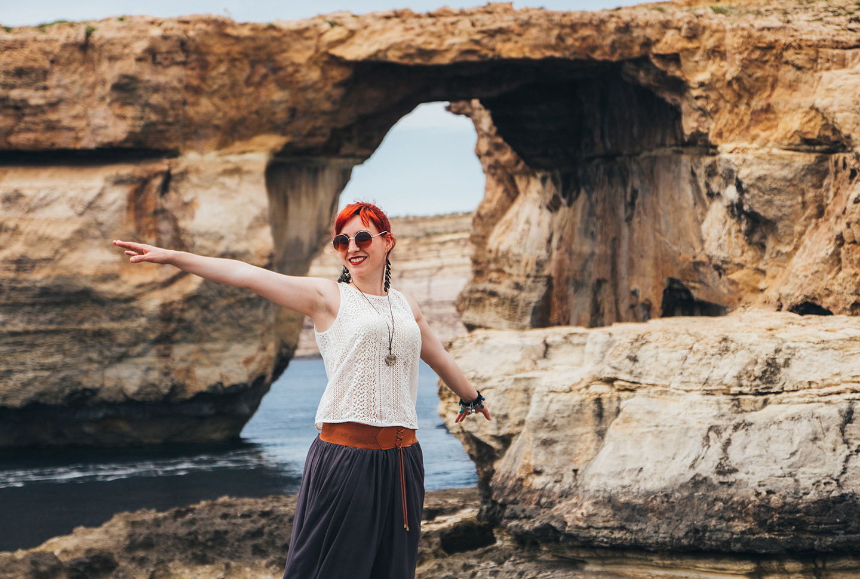 Strandspaziergang bei deiner Sprachreise nach Malta