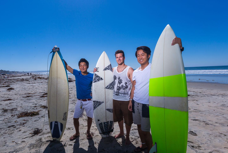 Surfen mit Sprachkurs